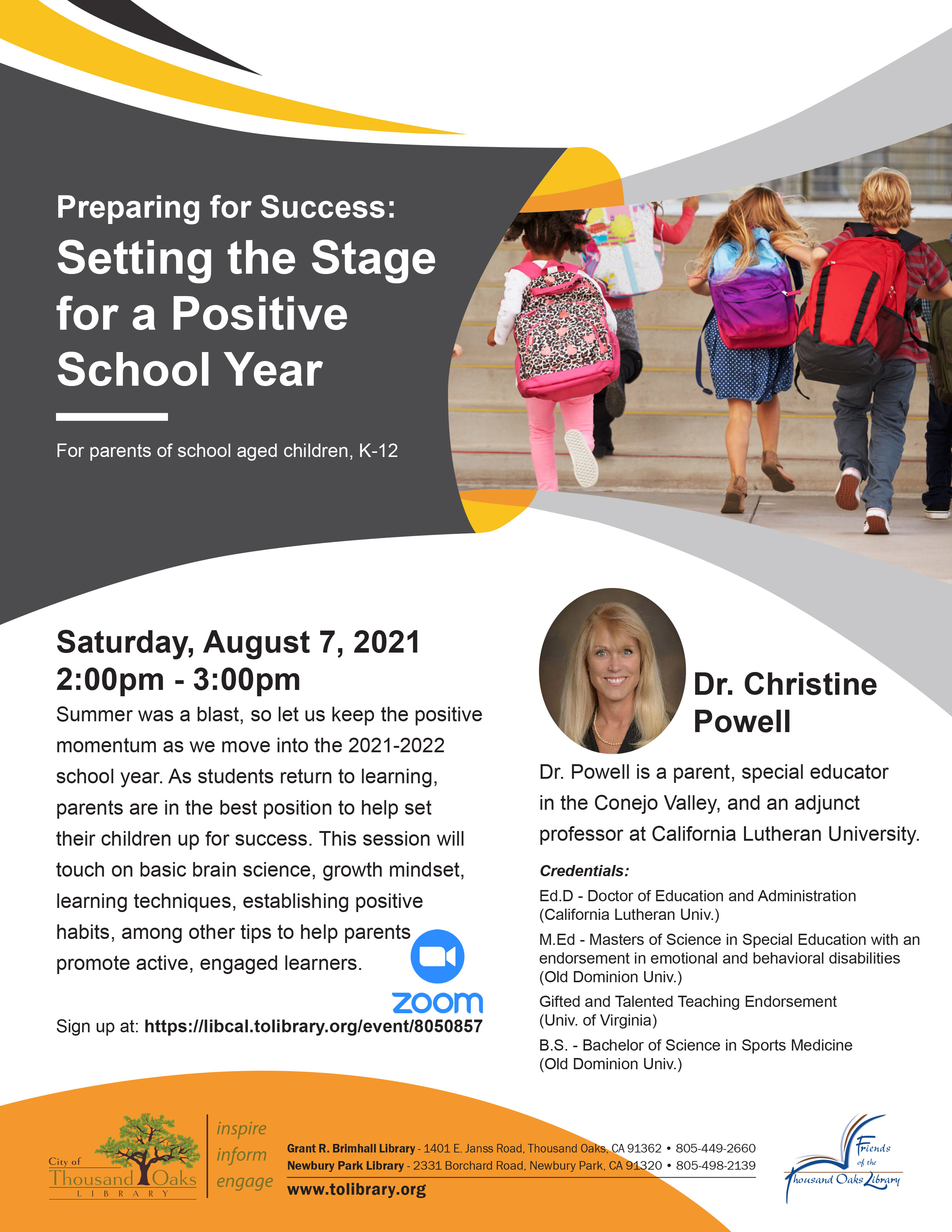 Preparing For Success- Setting The Stage For a Positive School Year