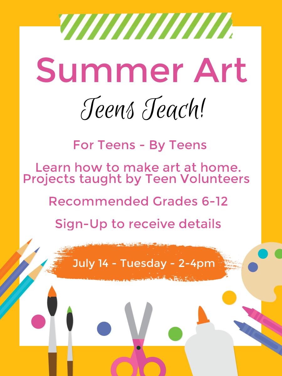 Art Class - Teens Teach