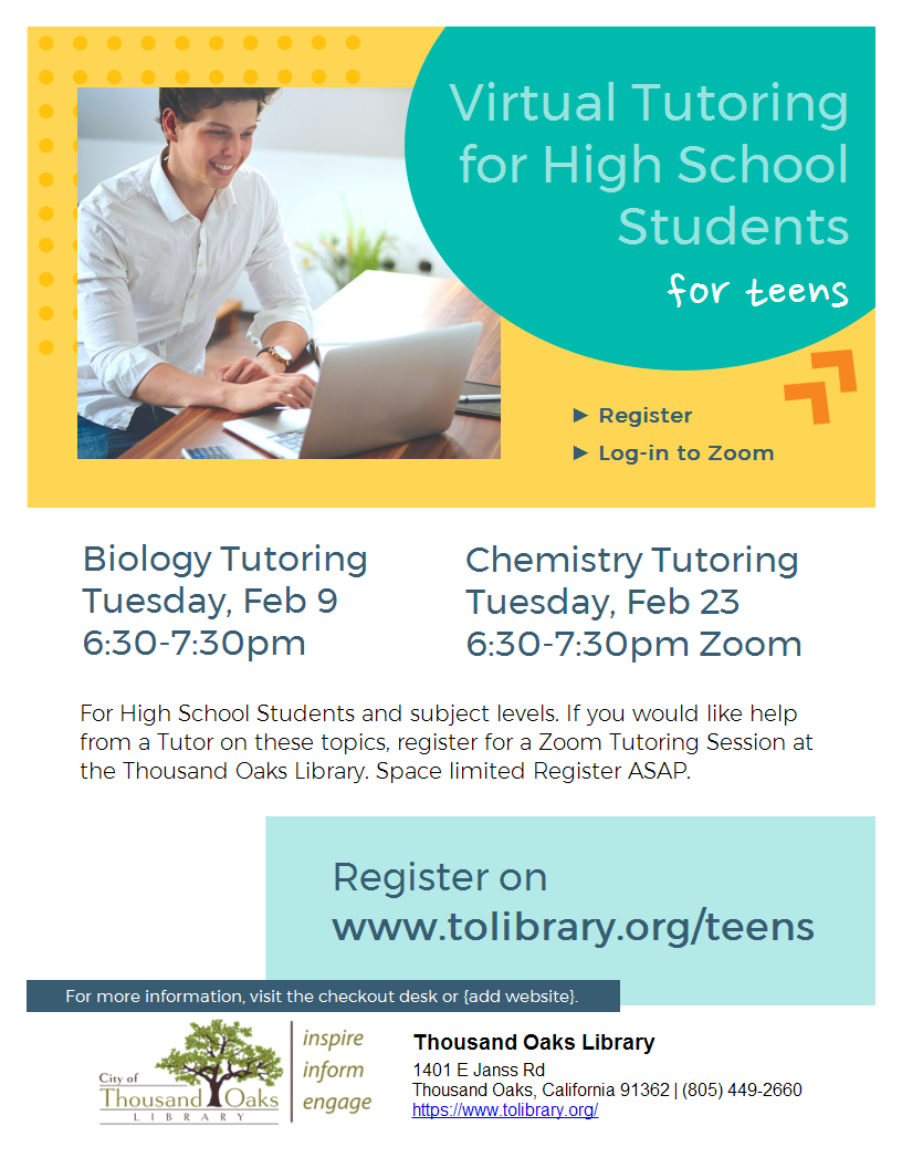 CHEMISTRY Tutoring for High Schoolers