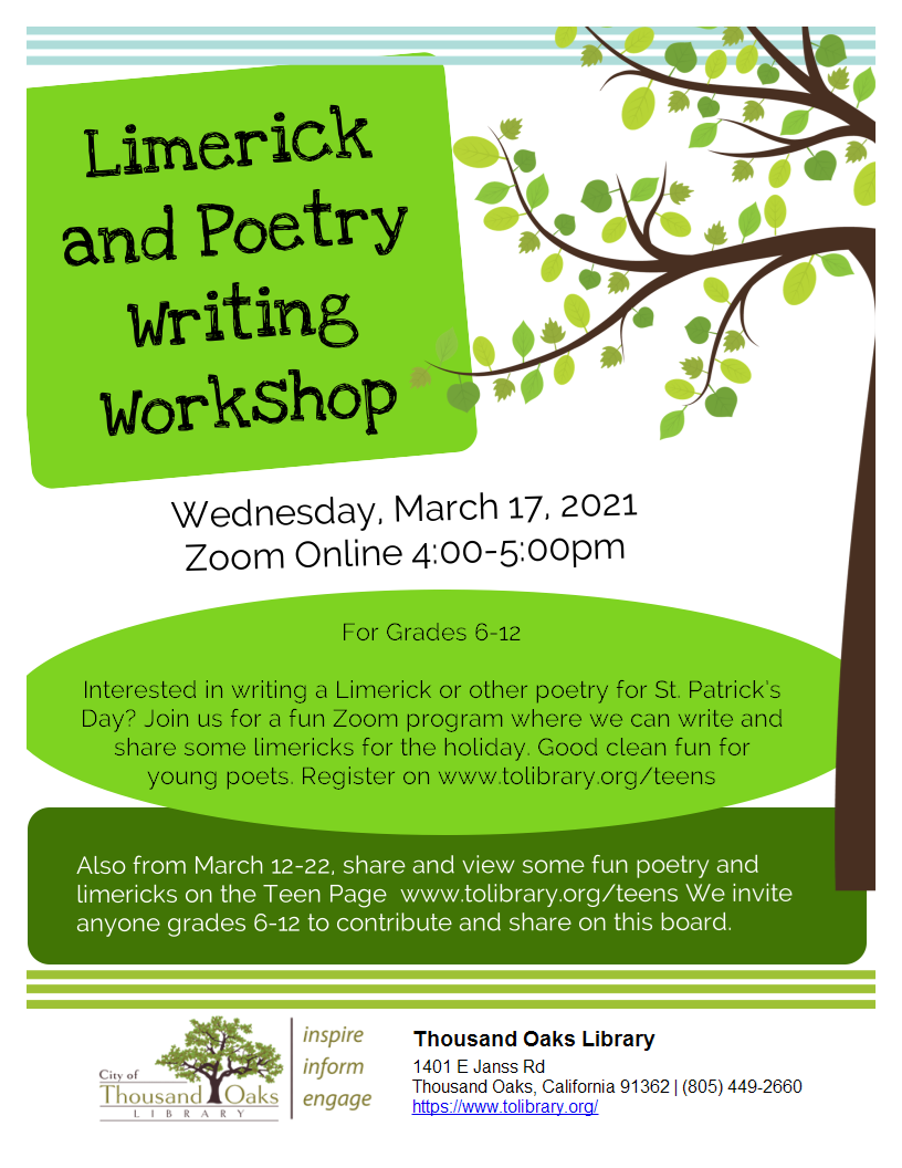 Limerick and Poetry Writing Workshop