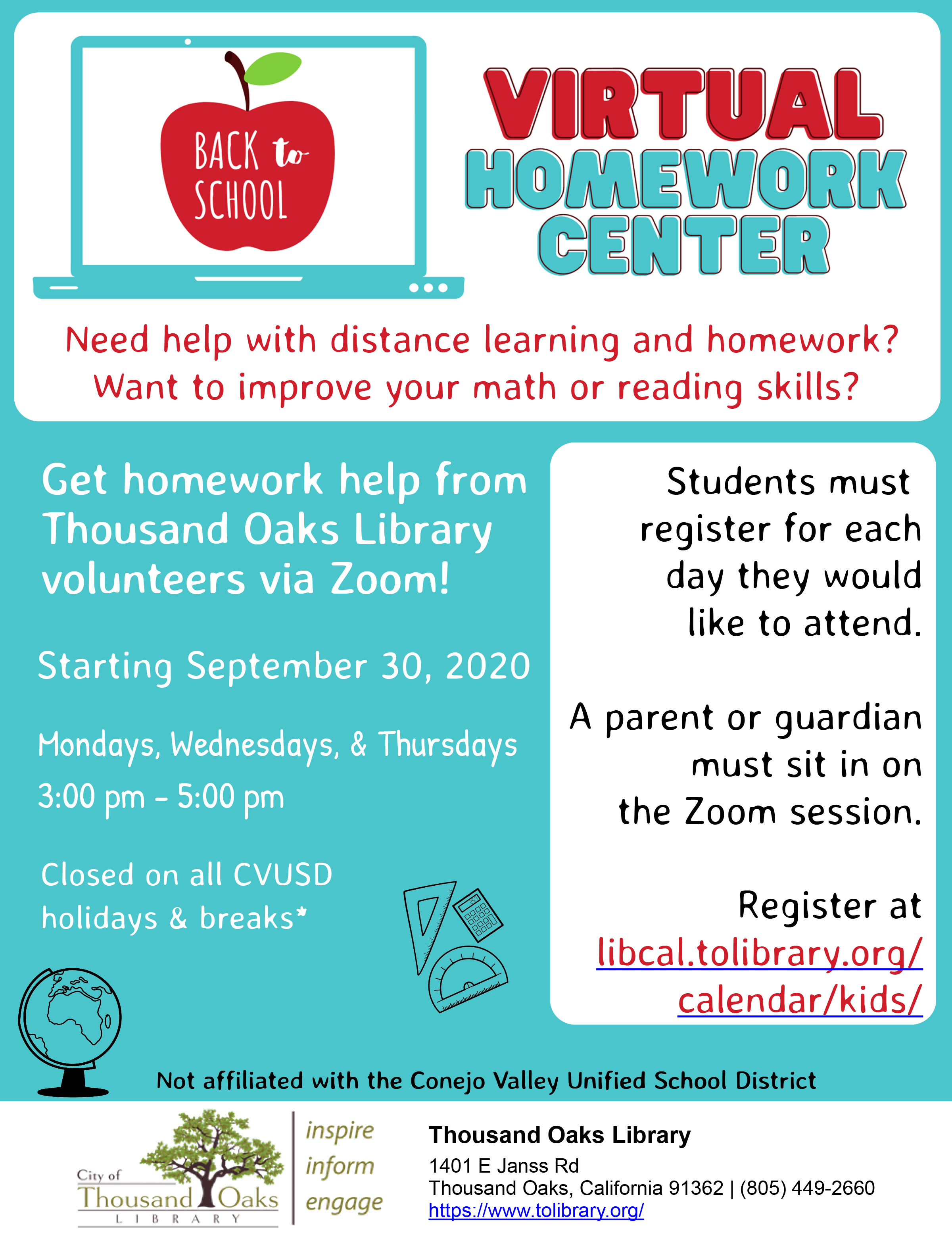 Virtual Homework Center (K- 8th Grade)