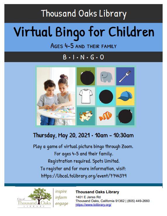 Virtual Bingo for Children