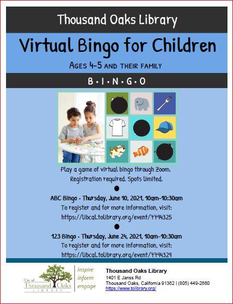 123 Virtual Bingo for Children