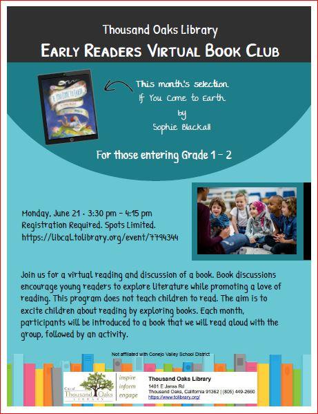Early Readers Virtual Book Club