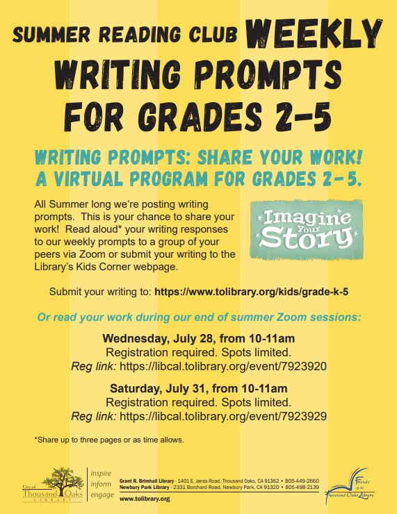 Writing Prompts: Share Your Work!