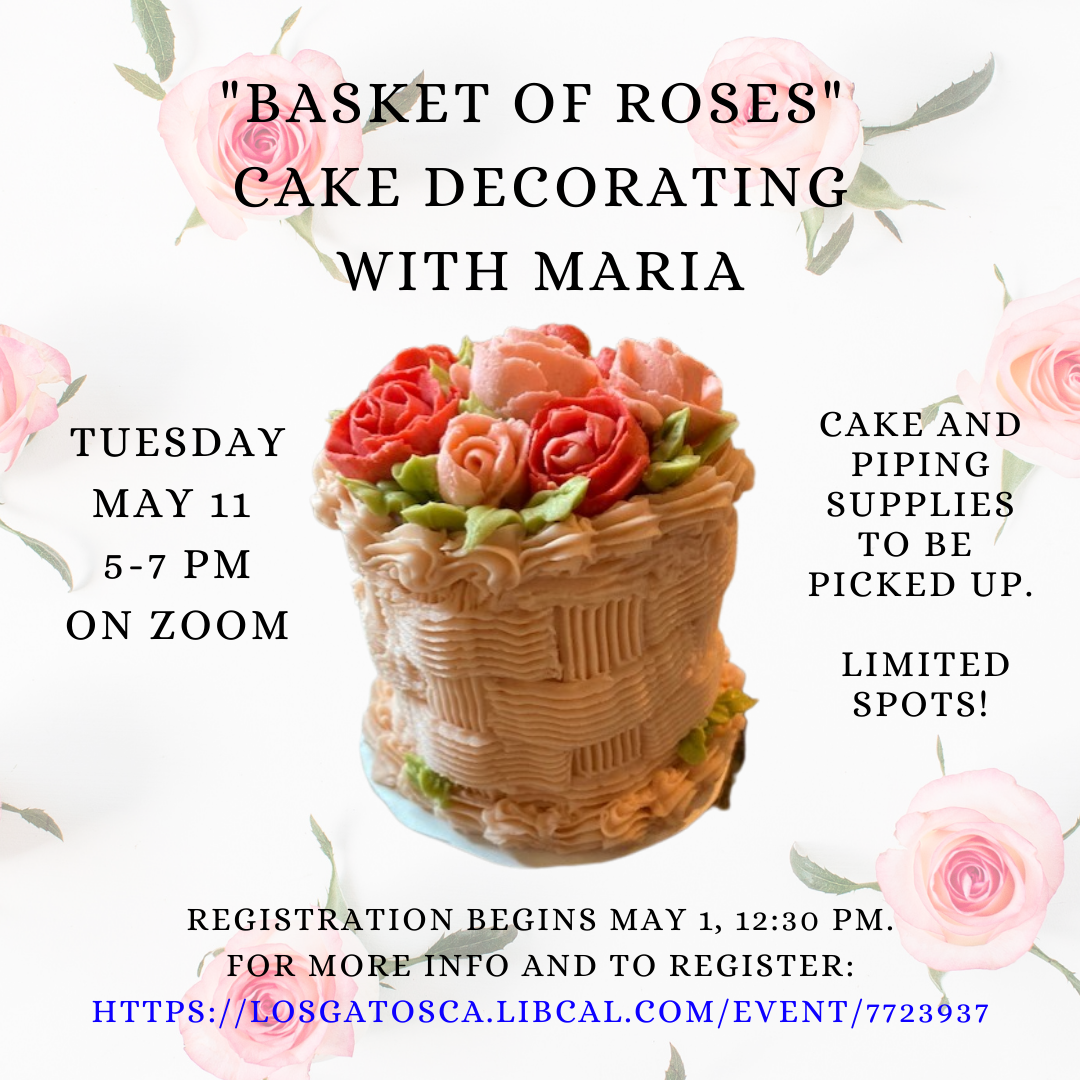 """""""Basket of Roses"""" Cake Decorating with Maria"""