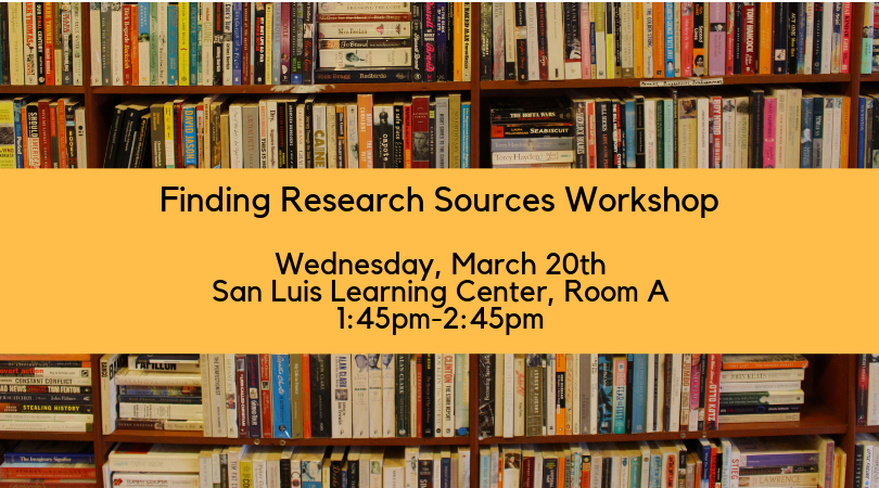 Finding Your Research Sources Workshop