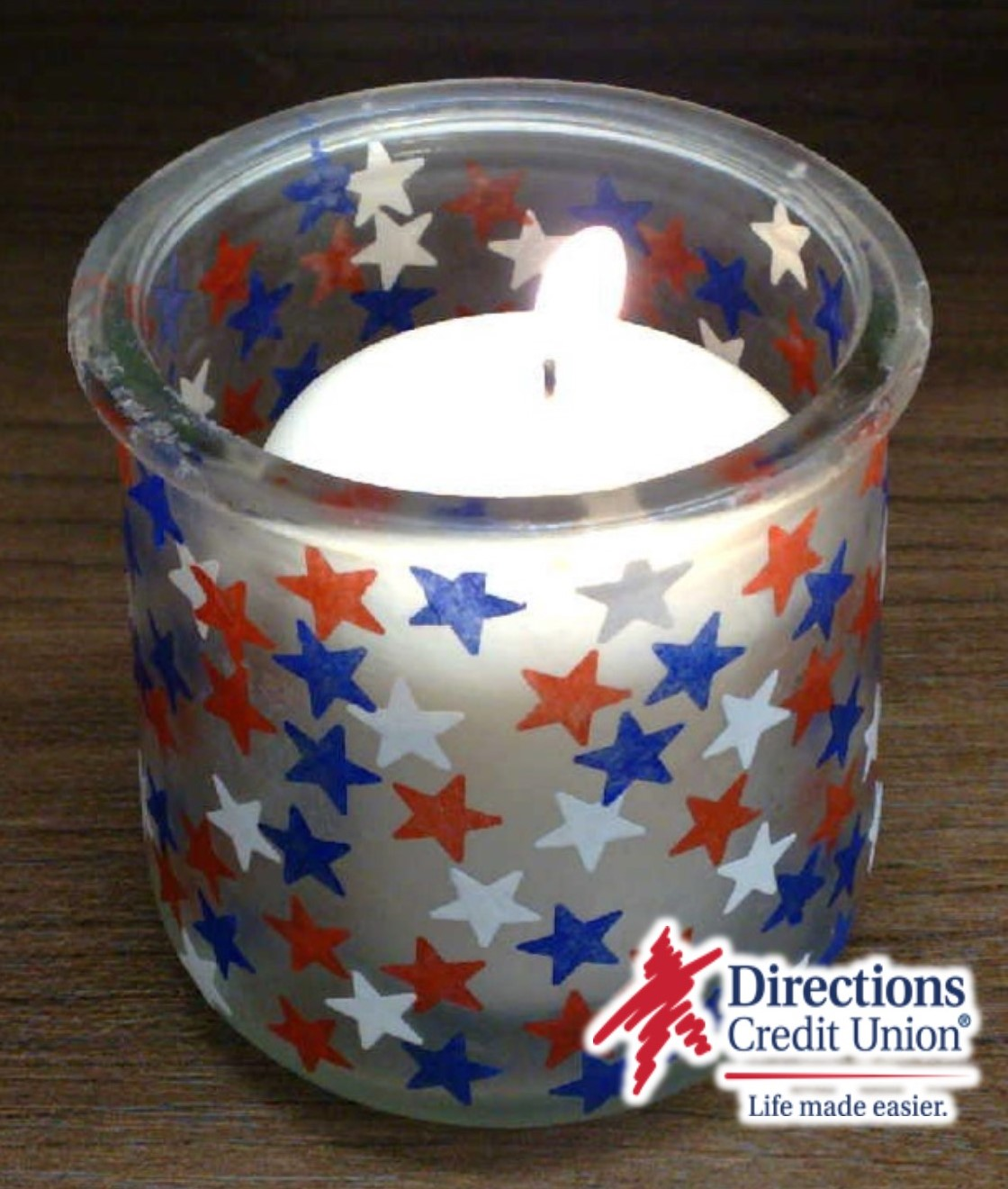 Crafternoon with Stephanie - Patriotic Candle Holder