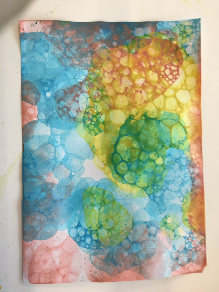 Children's Grab and Go Activity: Bubble Painting