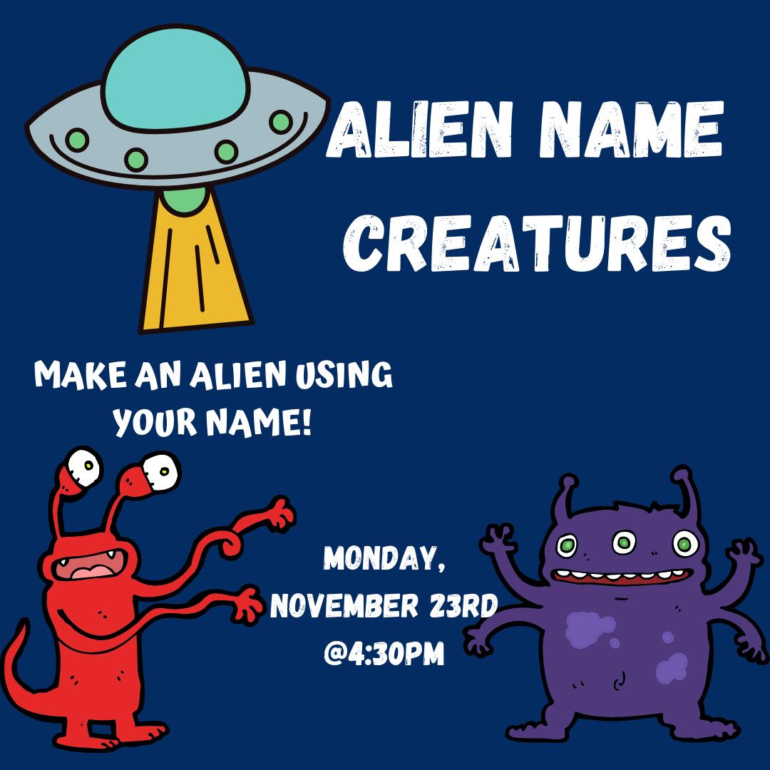 Alien Name Creatures
