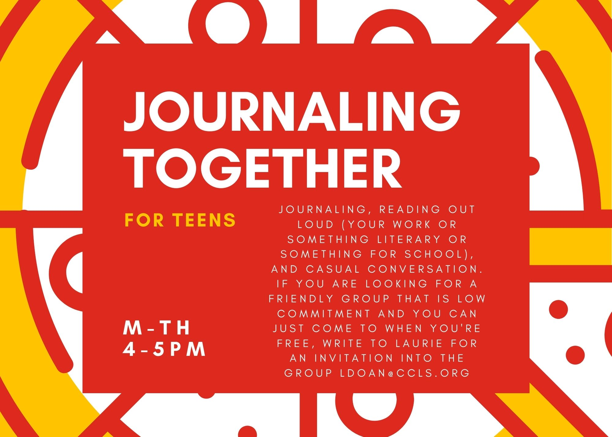 Journaling Togetther for Teens