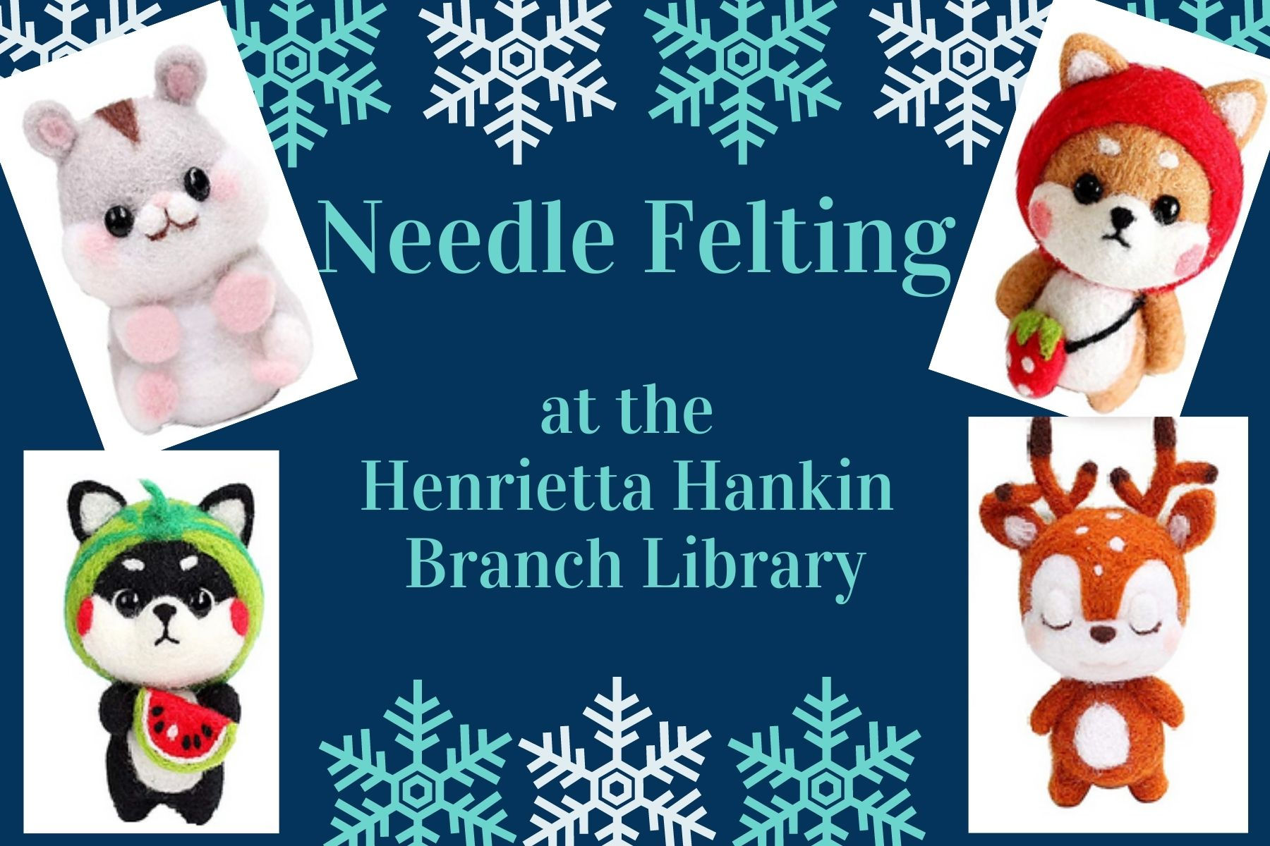 Virtual: Needle Felting (new creatures!)