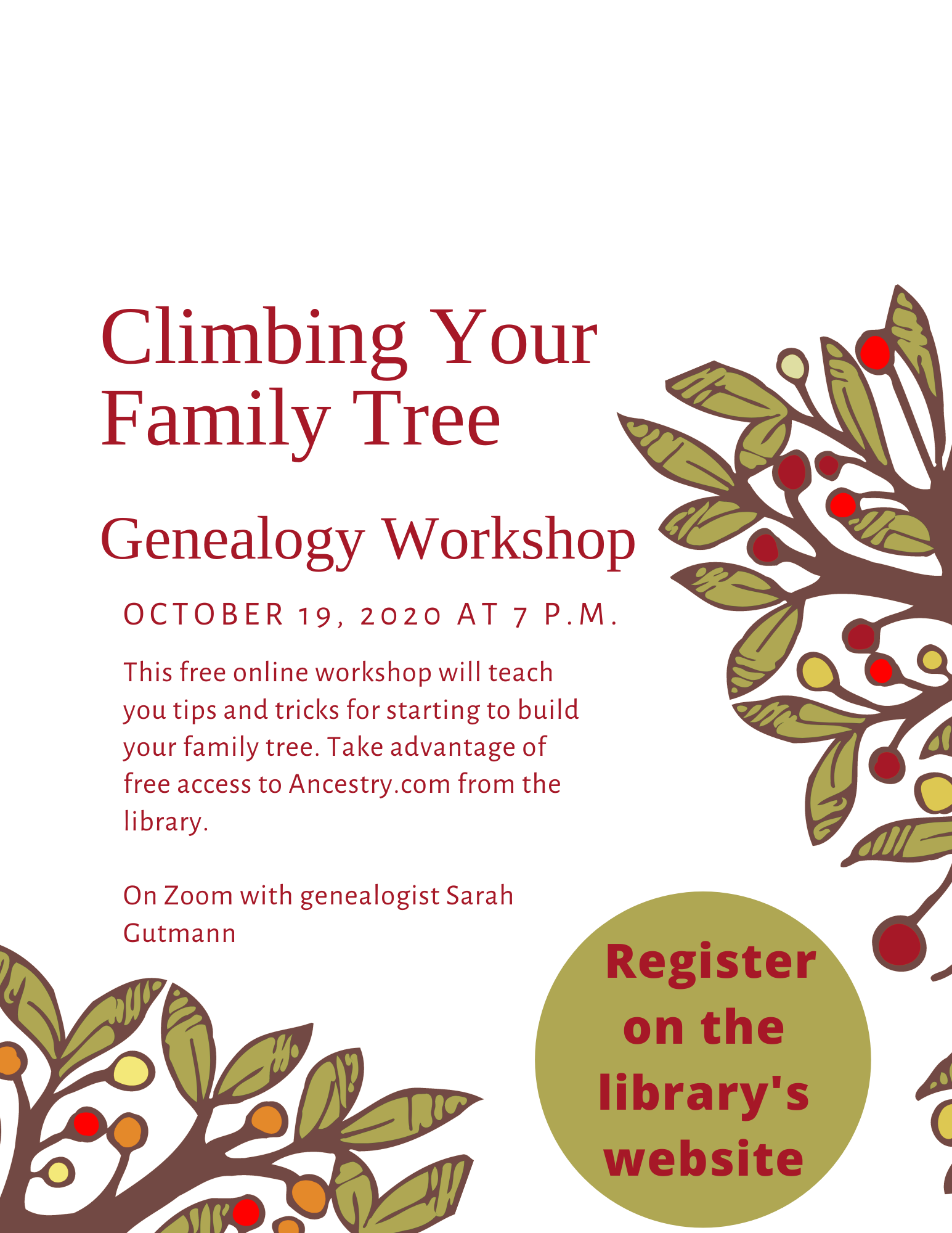Start Climbing Your Family Tree: An Introduction To Genealogy