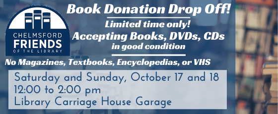 Friends of the Library Book Donation Drop Off