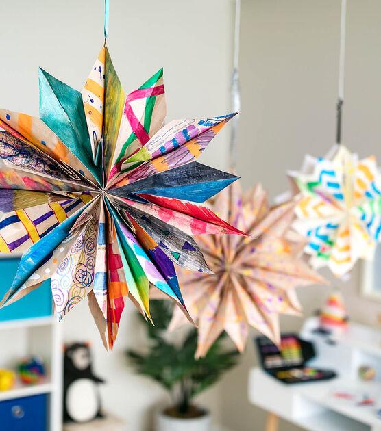 Winter Crafts on Zoom (grades K-6) Paper Bag Star