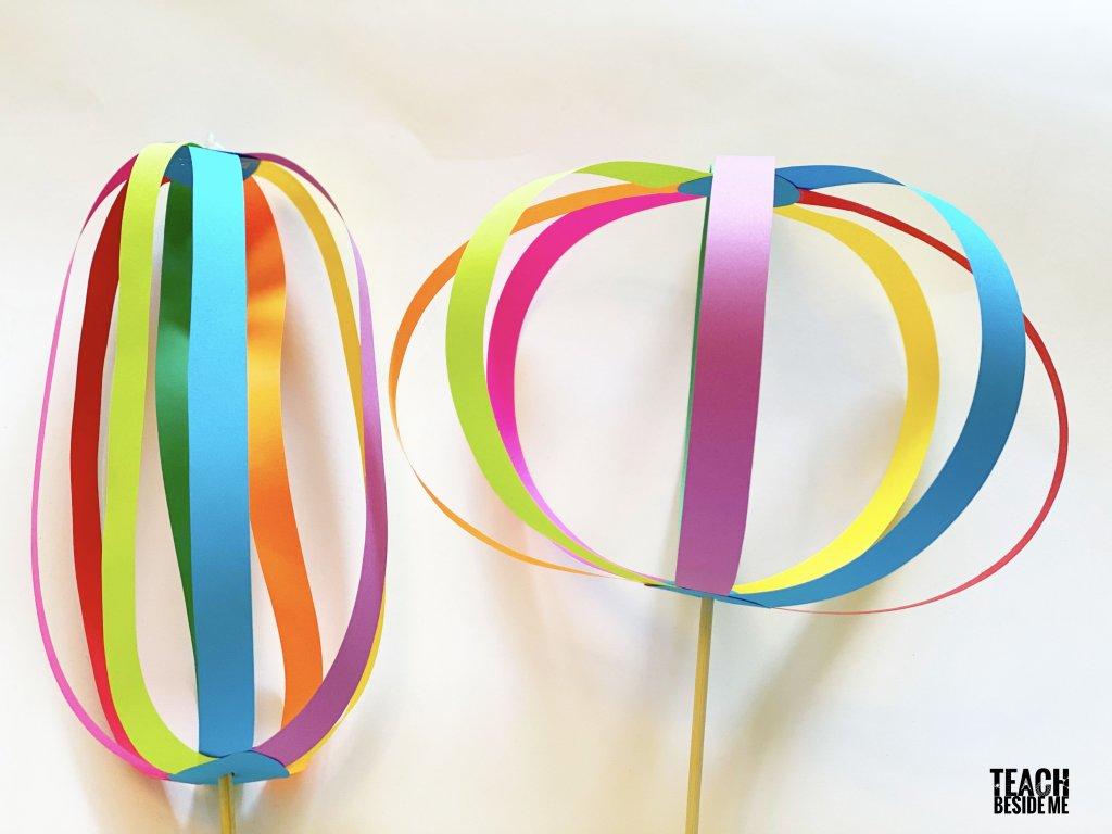 Spring Crafts on Zoom (grades K-6) Rainbow Twirligig