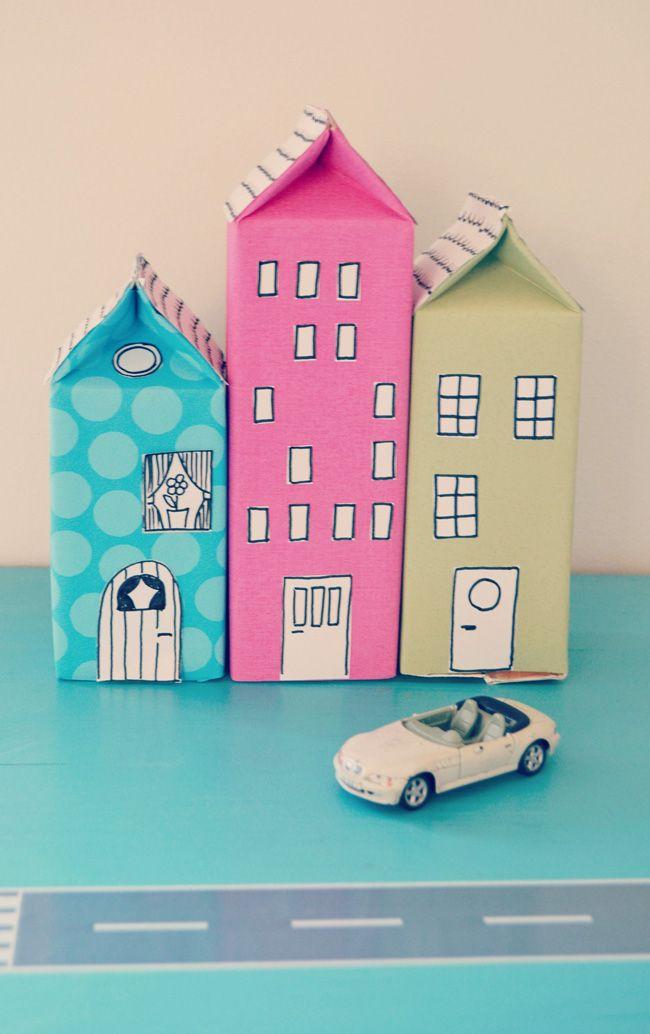 Spring Crafts on Zoom (grades K-6) Milk Carton Houses