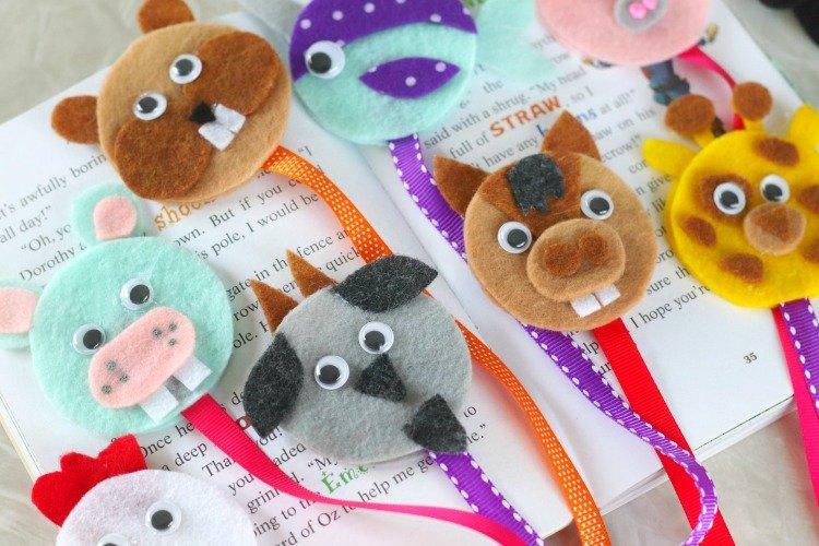 Summer Crafts on Zoom (Grades K-6) Ribbon Animal Bookmark