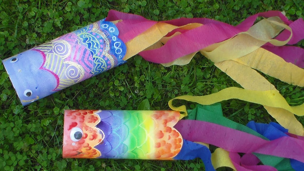 Summer Crafts on Zoom (Grades K-6) Windsocket Sea Creatures