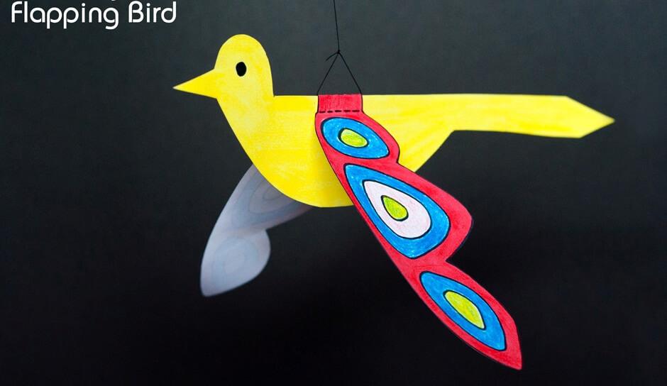 Summer Crafts on Zoom (Grades K-6) Flying Bird Mobile