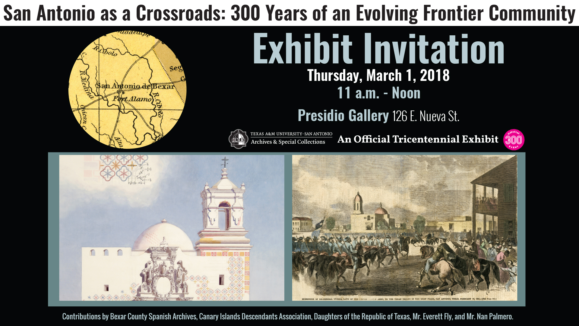 San Antonio as a Crossroads: 300 Years of an Evolving Frontier Community Kickoff Event