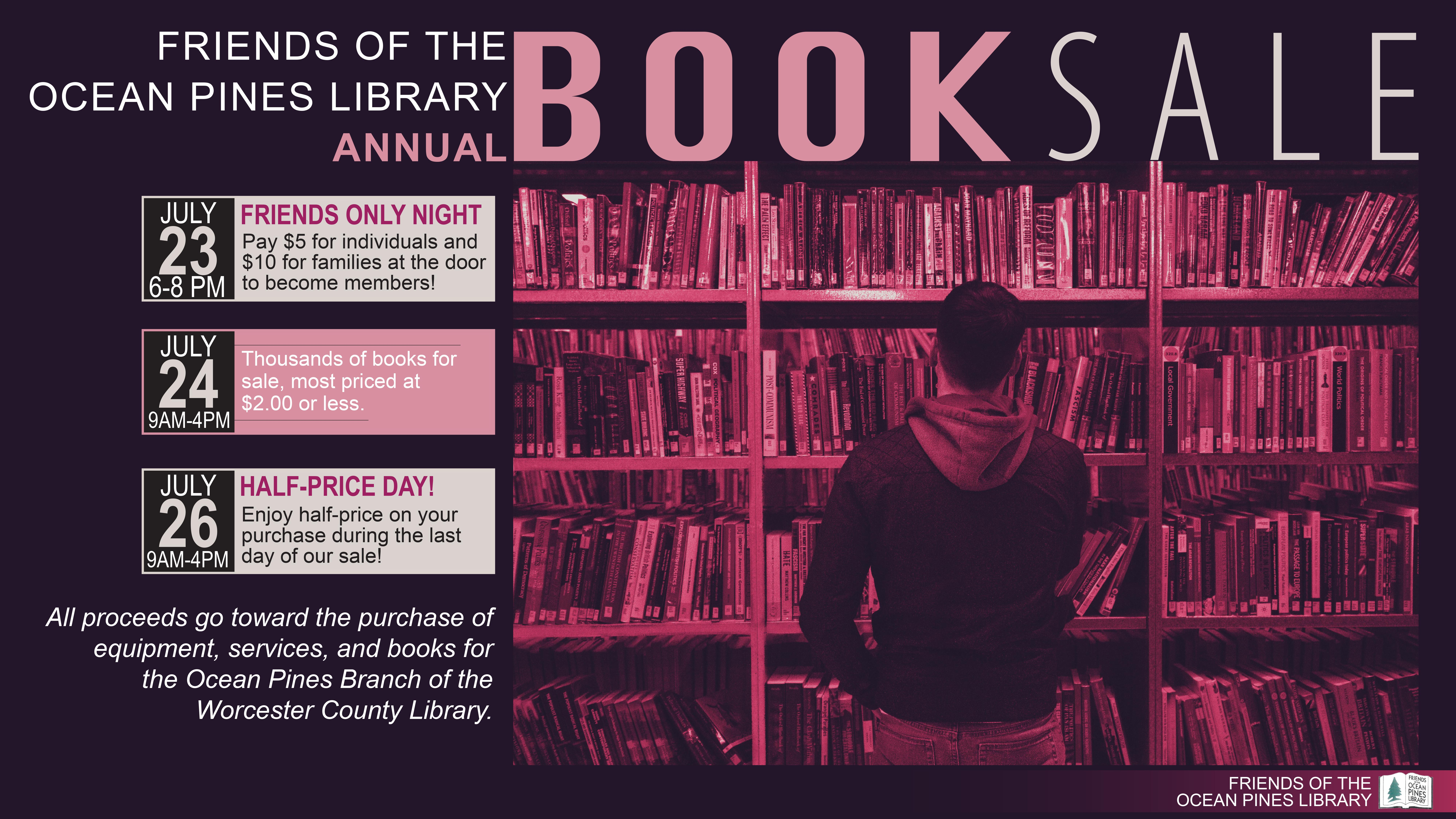 Friends of the Ocean Pines Library Annual Book Sale