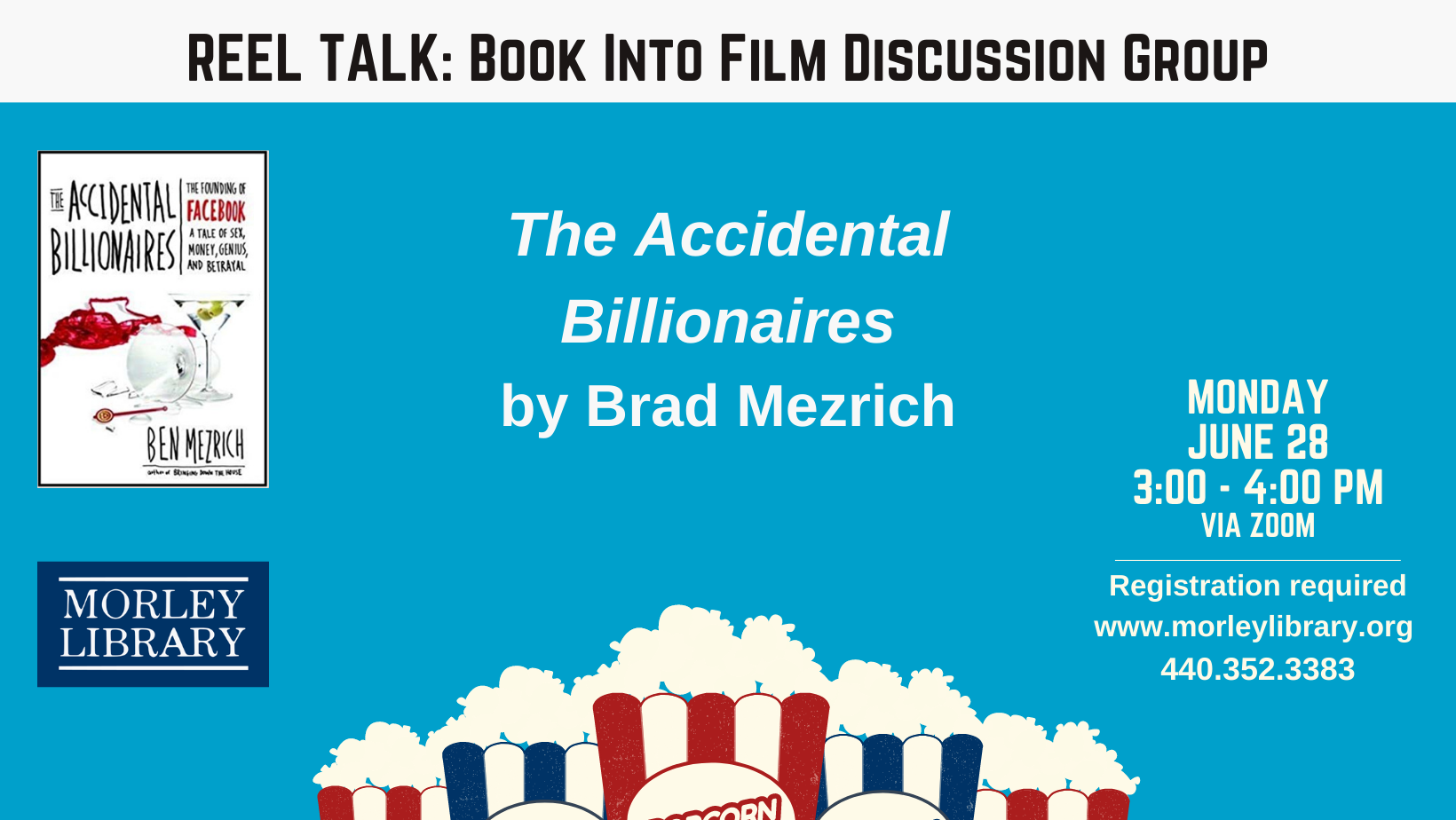Reel Talk:  Book Into Film Discussion Group