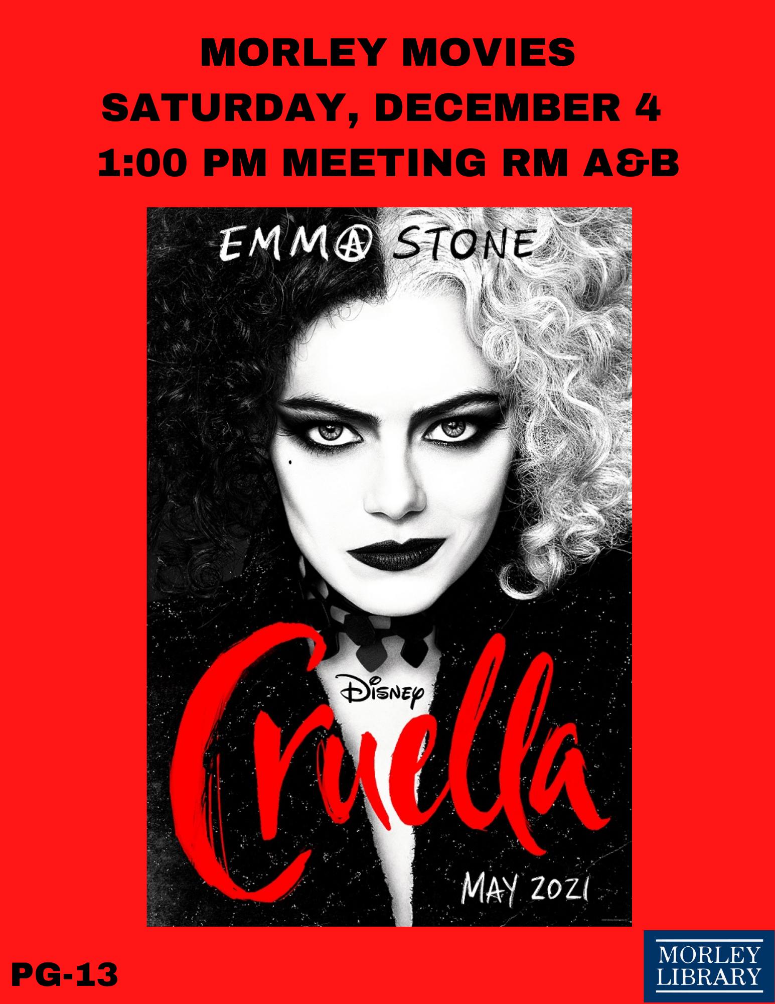 Morley Movies: Cruella