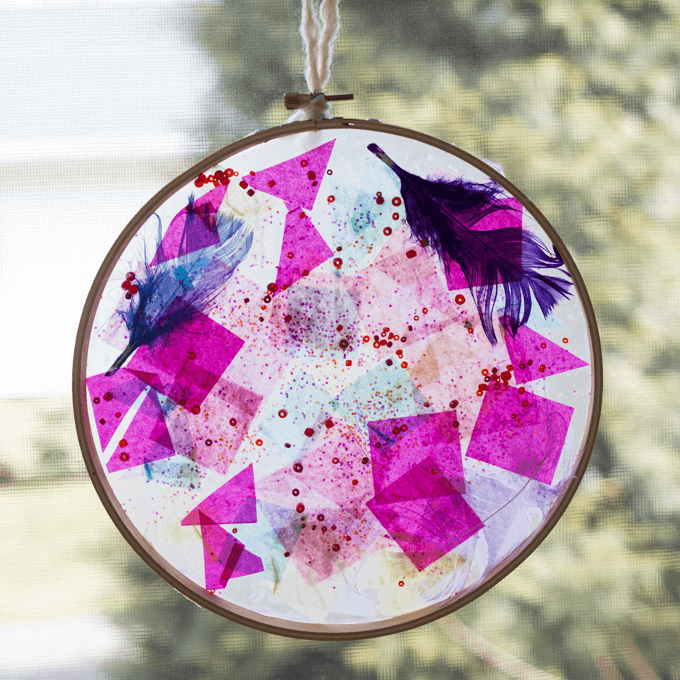 Crafternoons: Embroidery Hoop Suncatchers