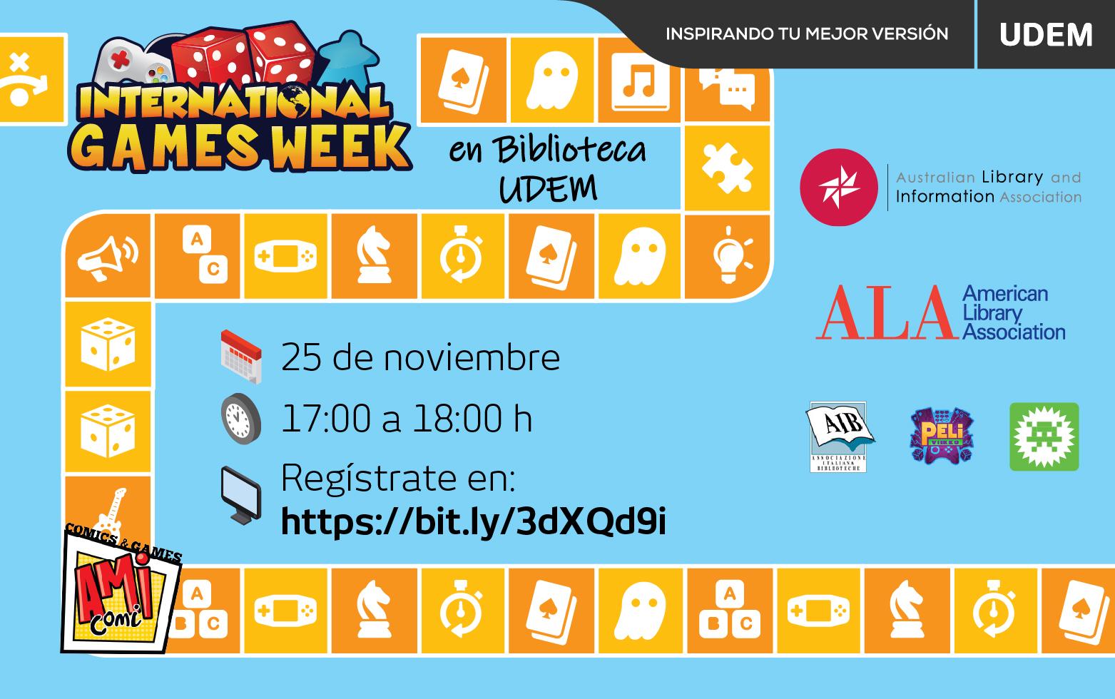 """""""International Games Week 2020""""  Biblioteca UDEM"""