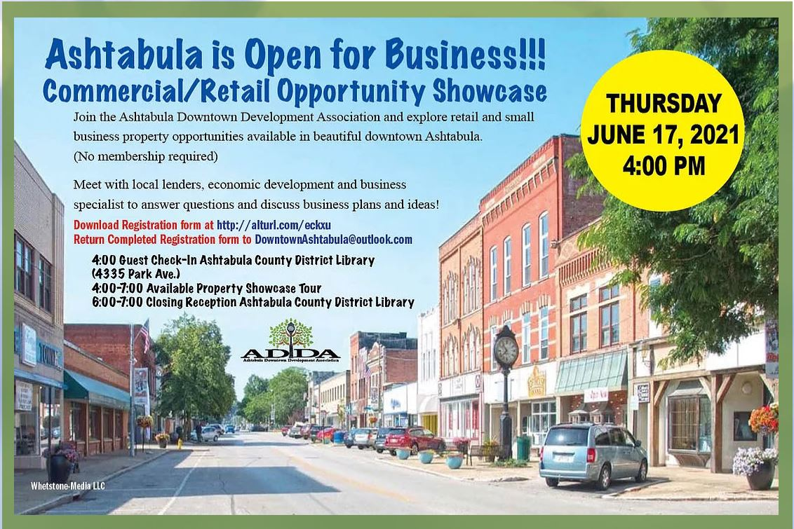 Ashtabula Is Open for Business!!  Commercial/Retail Opportunity Showcase