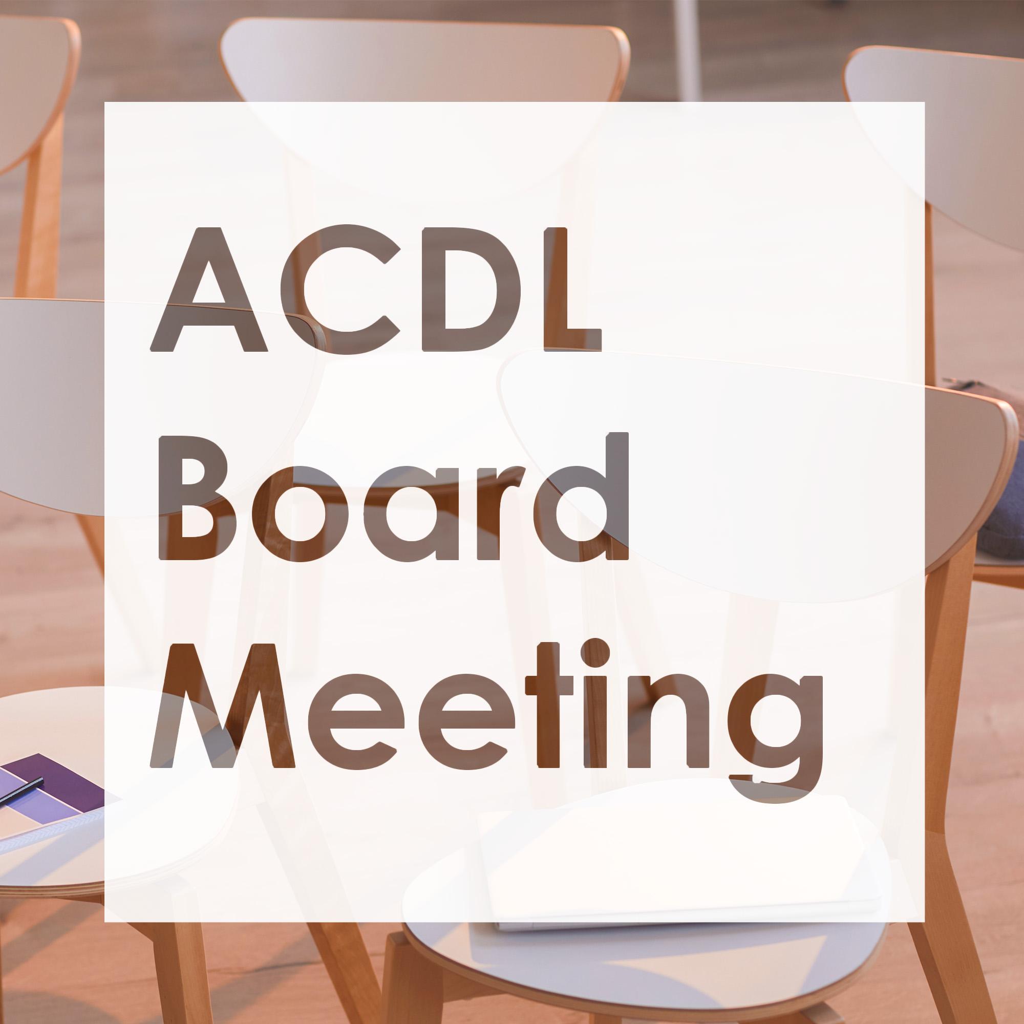 ACDL Board of Trustees meeting