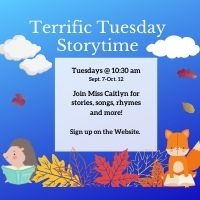 Terrific Tuesday Storytime (Registration Required)