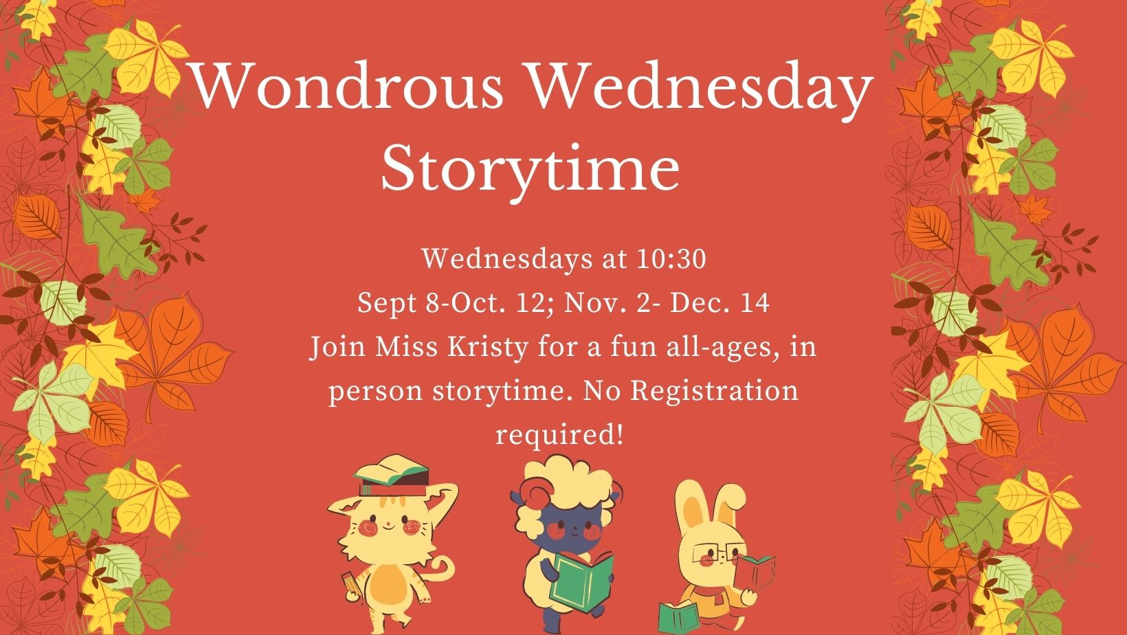 Wondrous Wednesday Storytime (Registration Required)