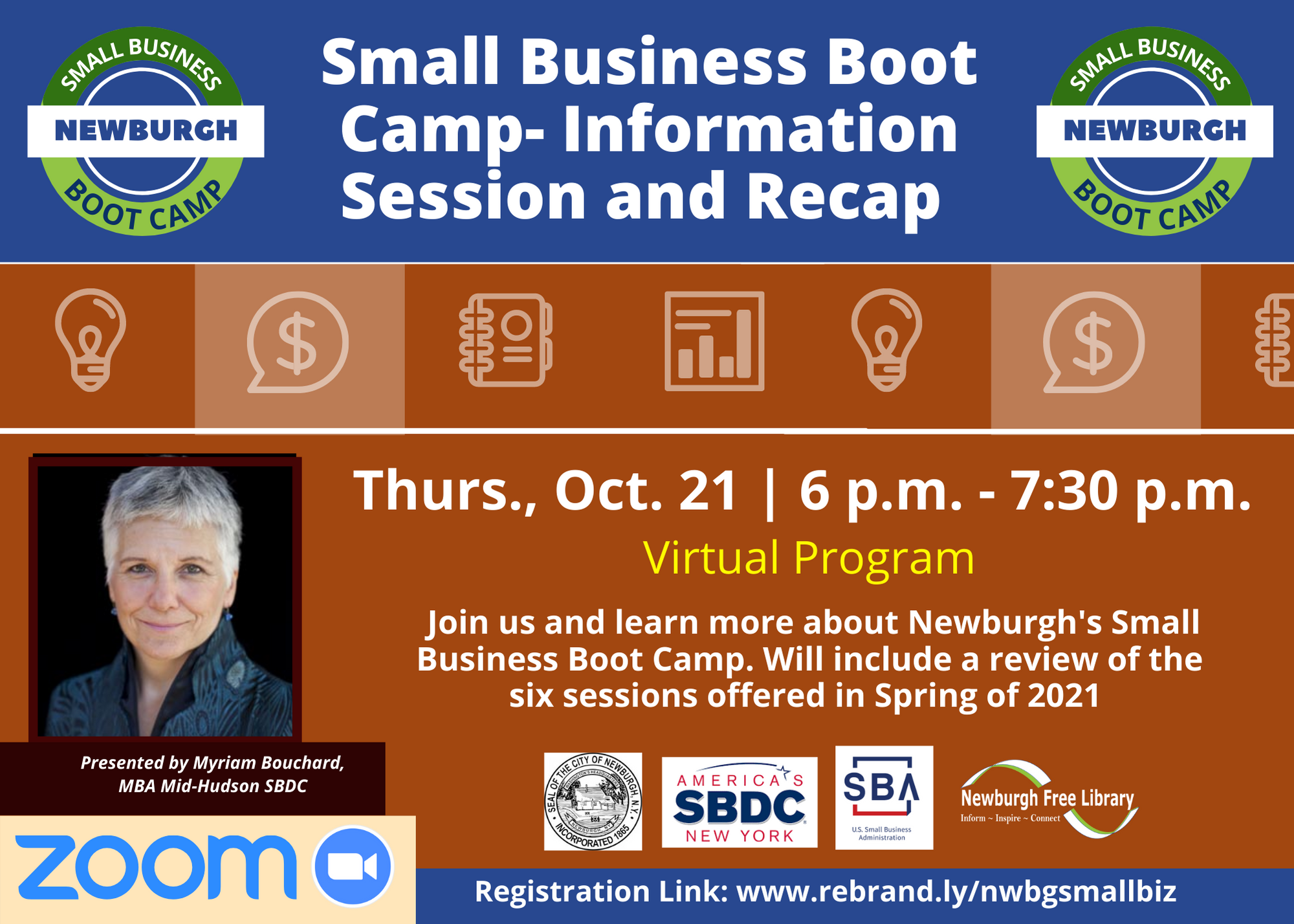 Small Business Boot Camp- Information Session and Recap of Spring 2021 Classes- Virtual