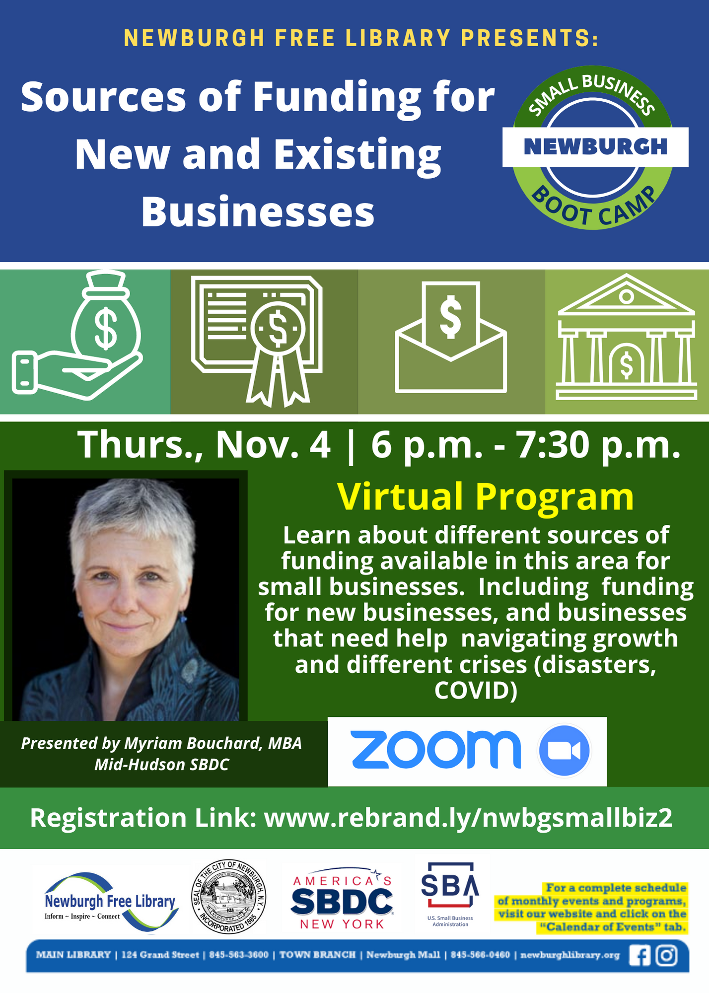 Small Business Boot Camp- Sources of Funding for New and Existing Businesses- Virtual