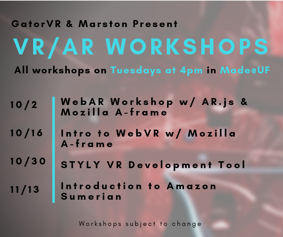International Education Week - VR in Unreal Engine Workshop
