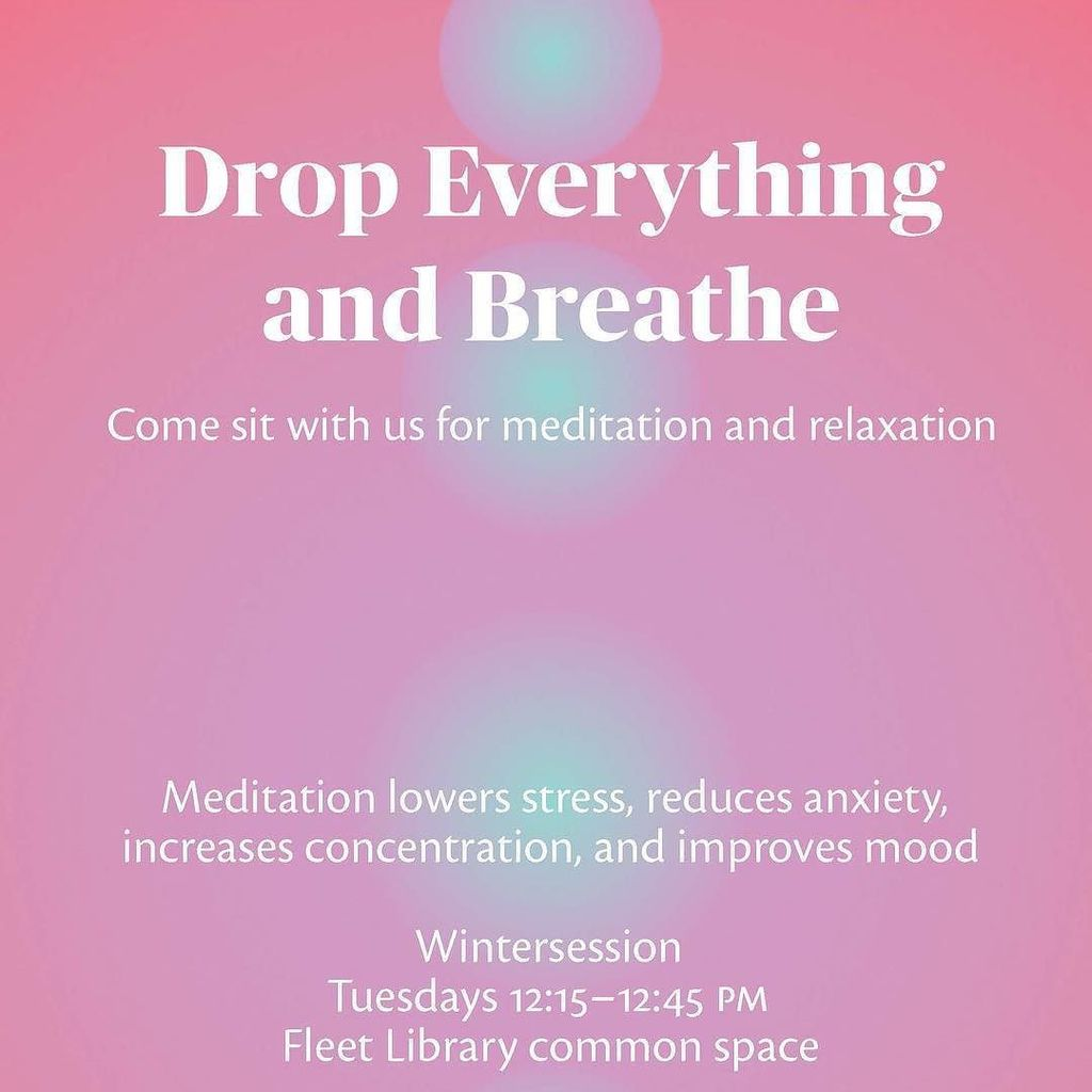 Drop Everything and Breathe: Meditation in the Library
