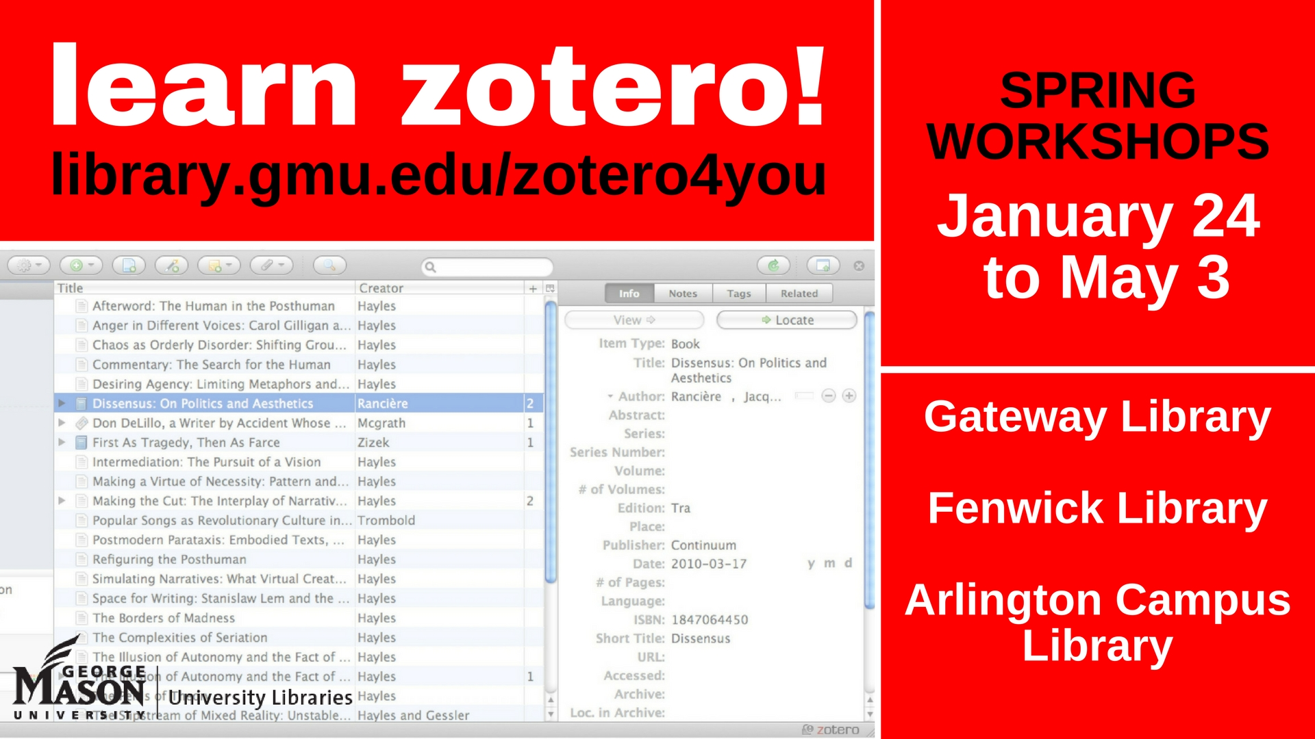 ****CANCELED****Zotero