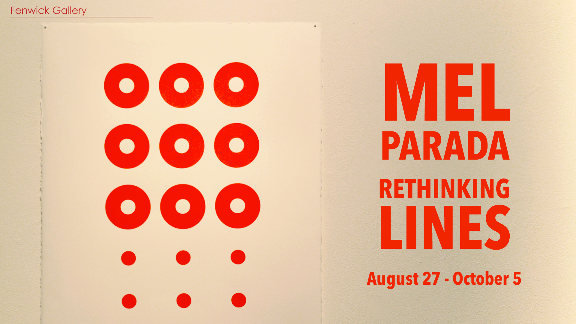 Artist's Lecture: Mel Parada, Rethinking Lines