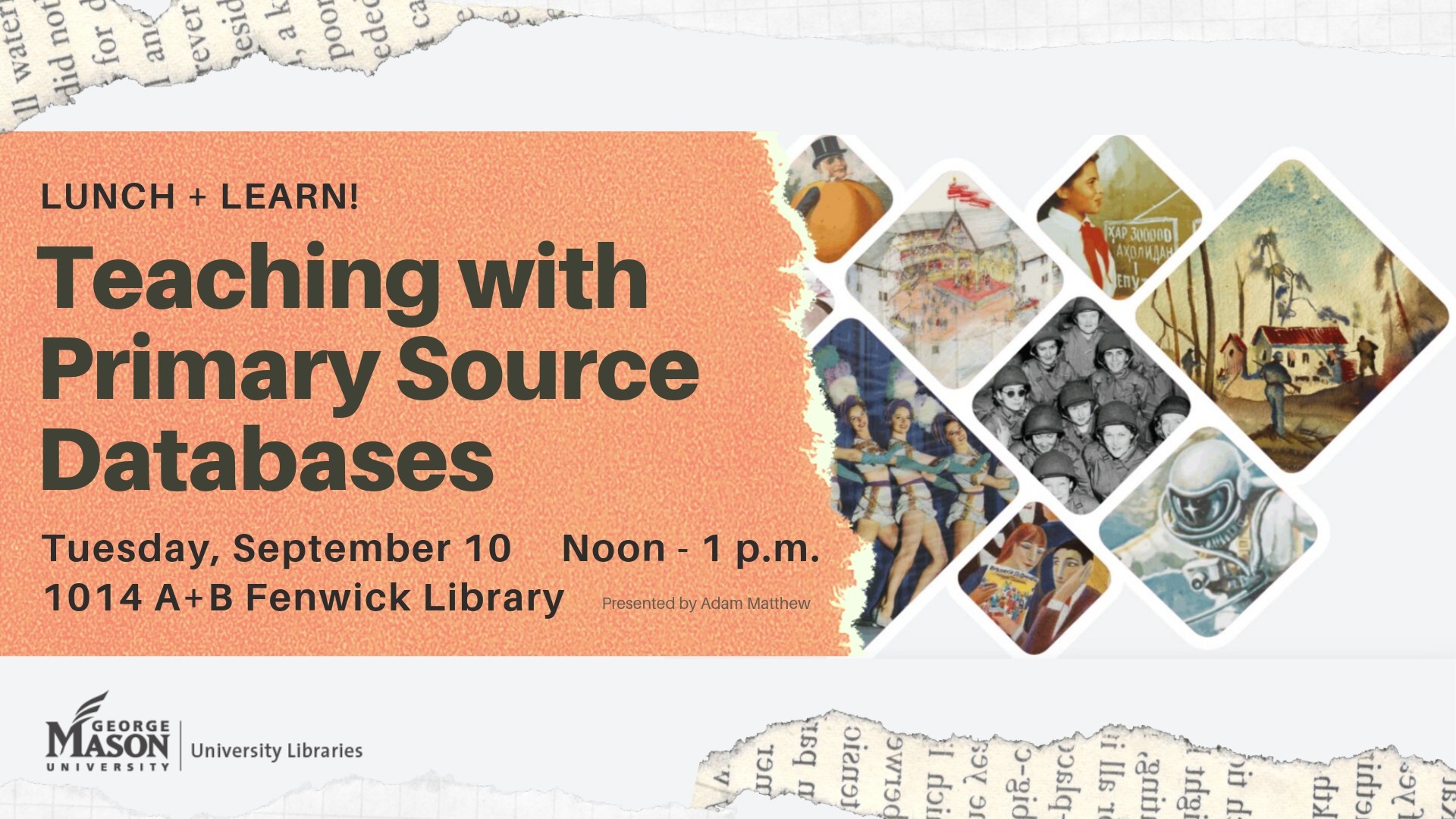 Lunch & Learn! Teaching with Primary Source Databases