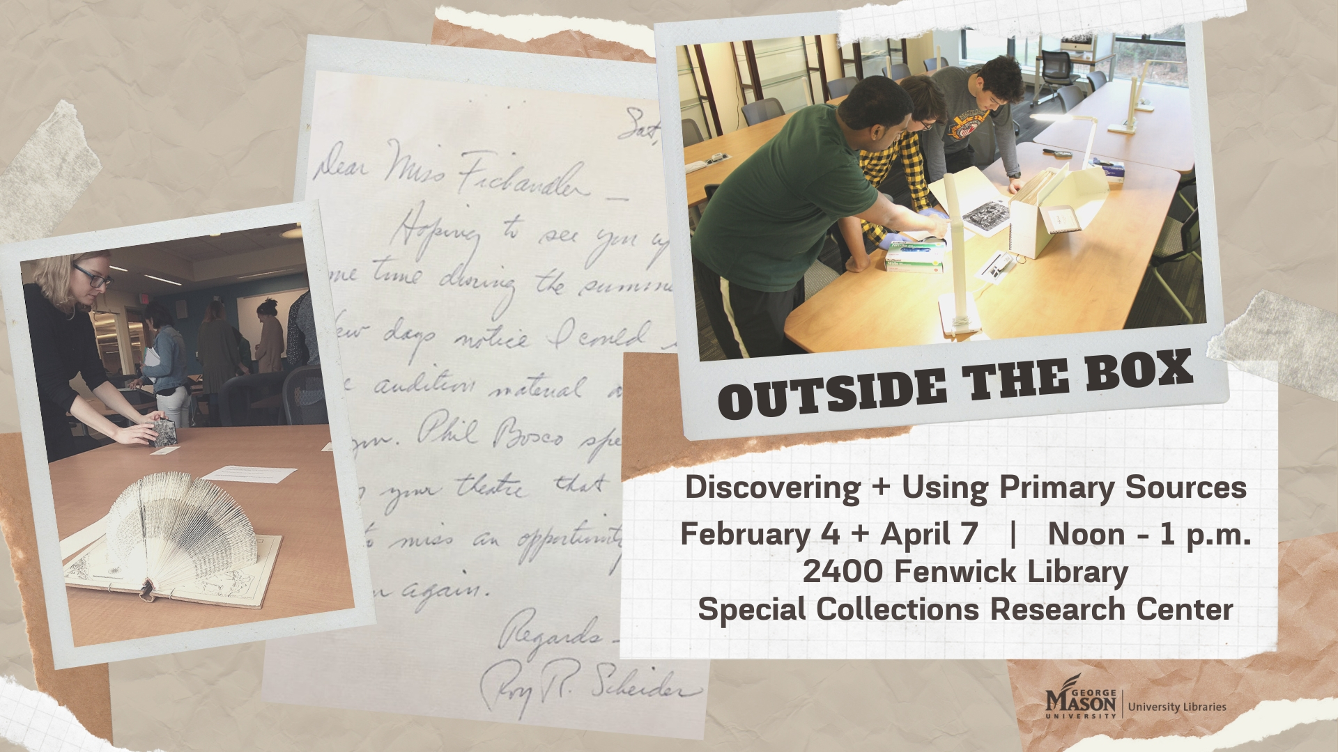 Outside the Box! Discovering + Using Primary Sources