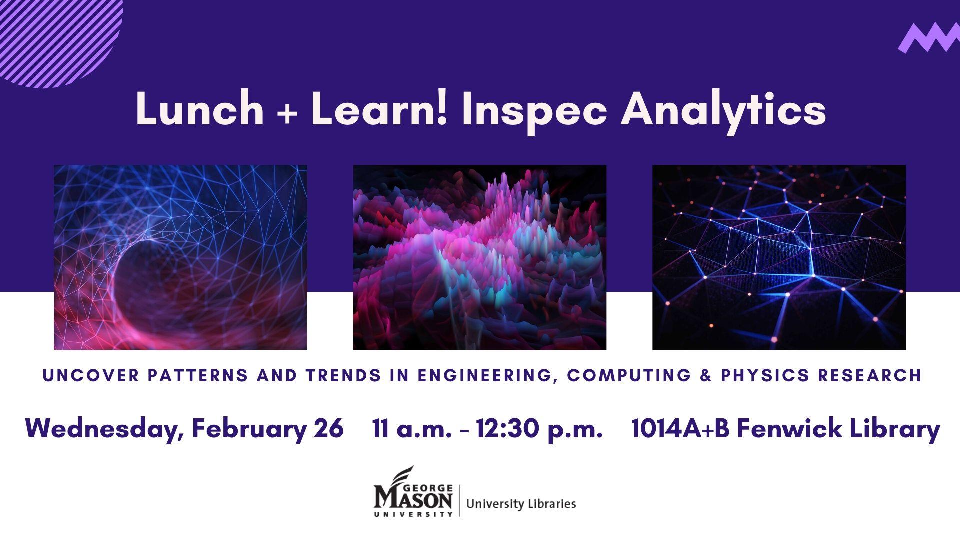Lunch & Learn! IET Inspec Analytics