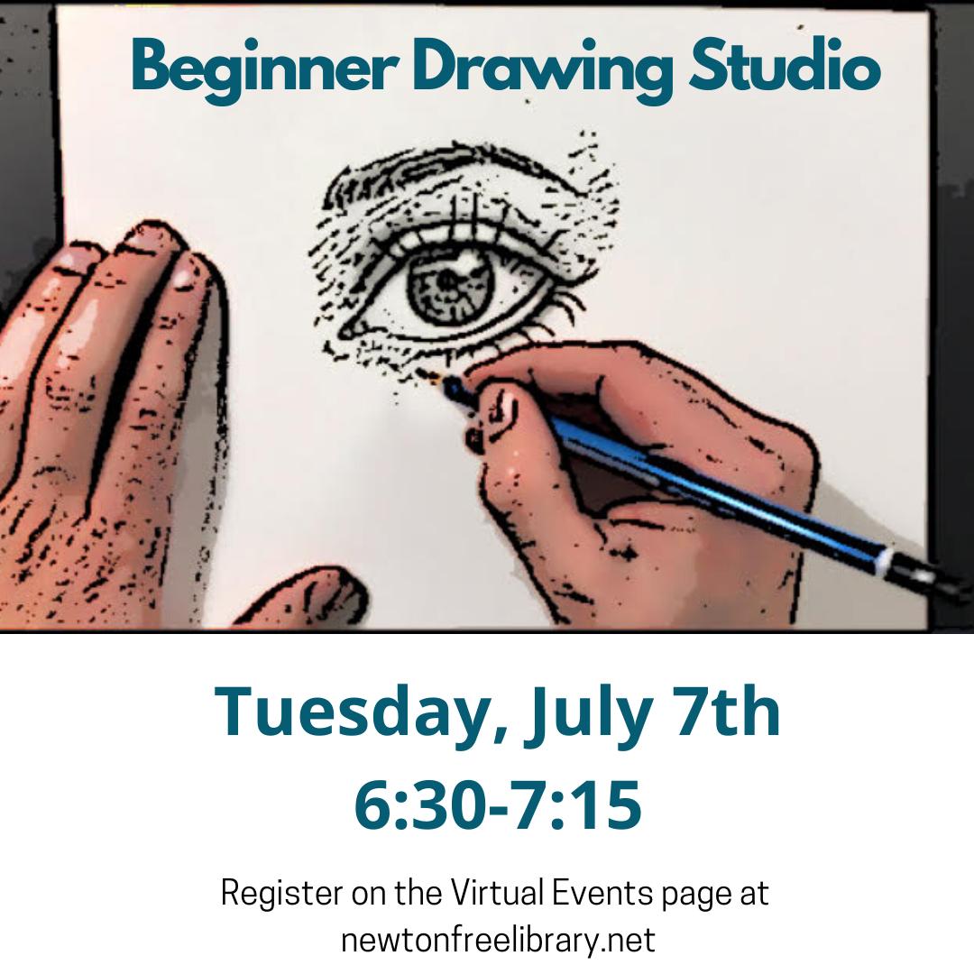 Beginner Drawing Studio (Zoom)