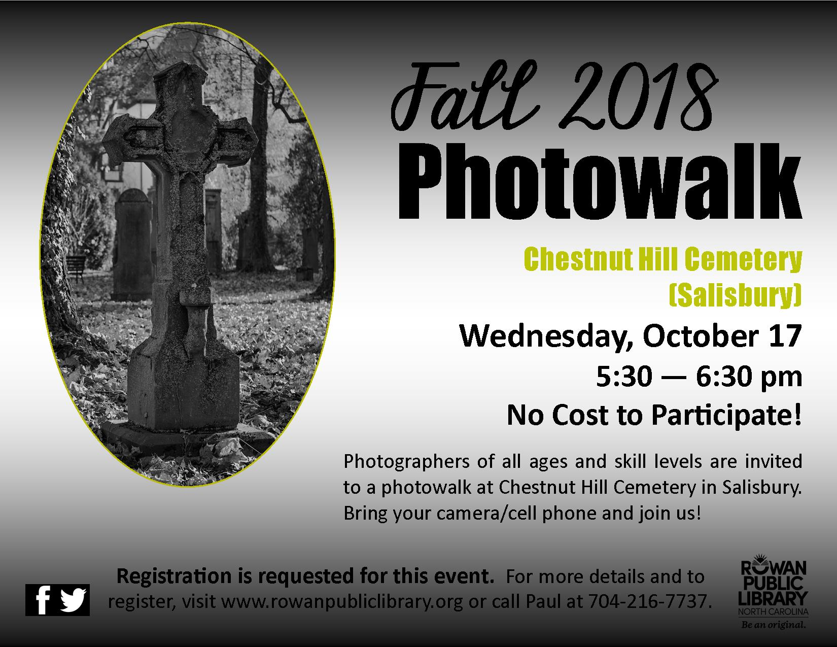 Fall 2018 Photowalk - Chestnut Hill Cemetery (Salisbury)