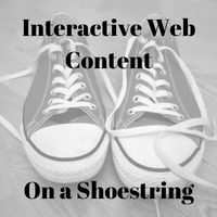 Interactive Web Content on a Shoestring