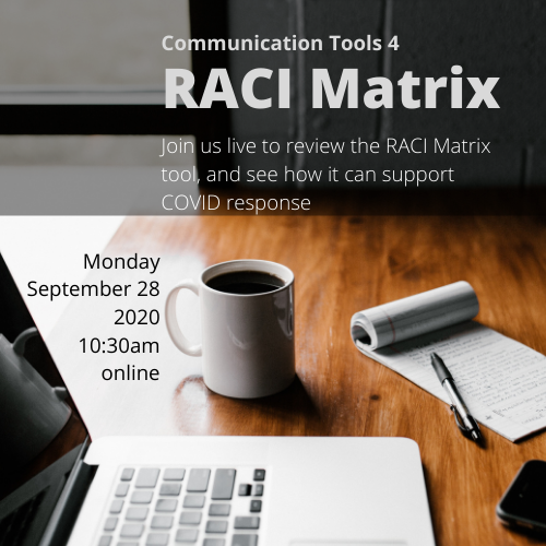 Using the RACI Matrix to organize a communication campaign, in COVID context