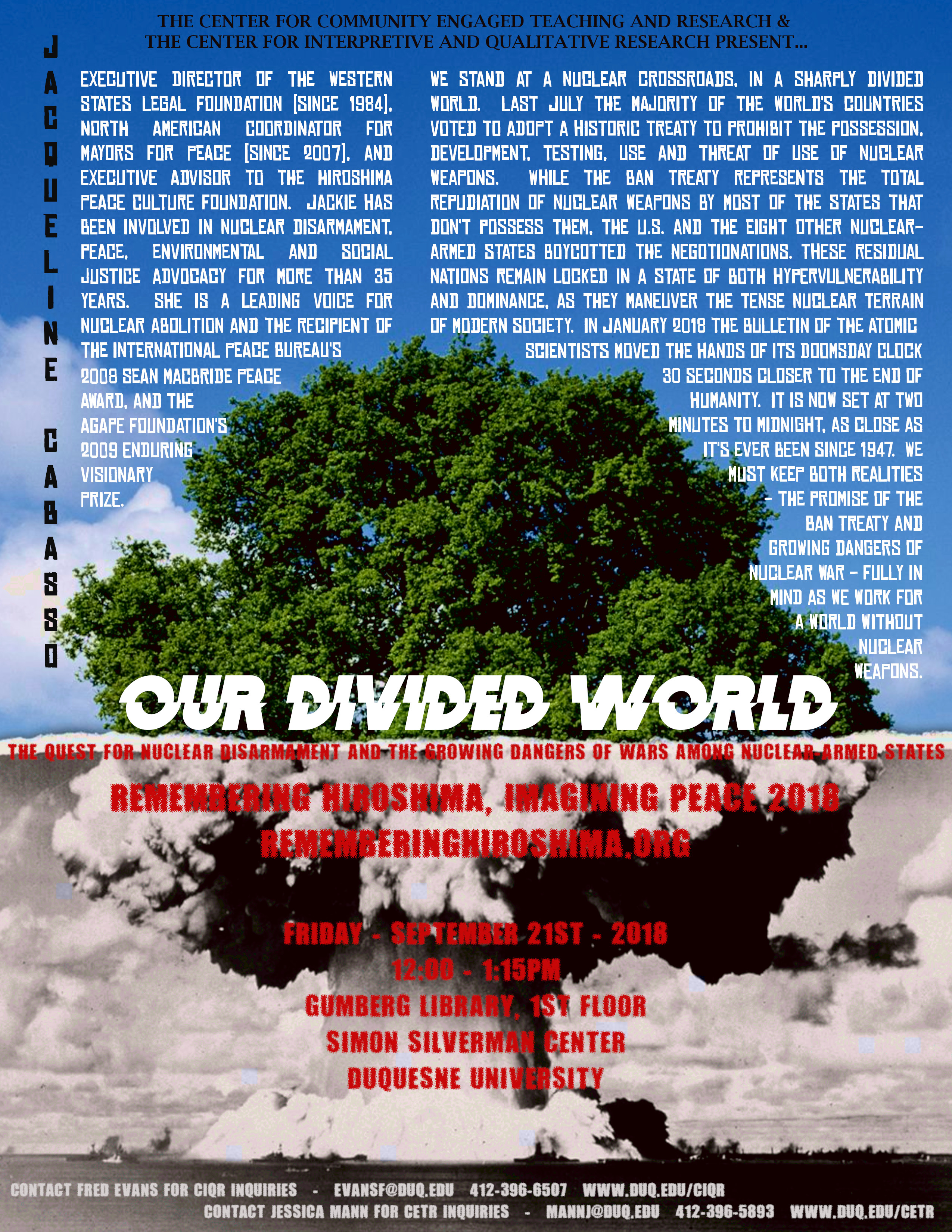 Our Divided World: The Quest for Nuclear Disarmament and the Growing Dangers of Ward Among Nuclear Armed States