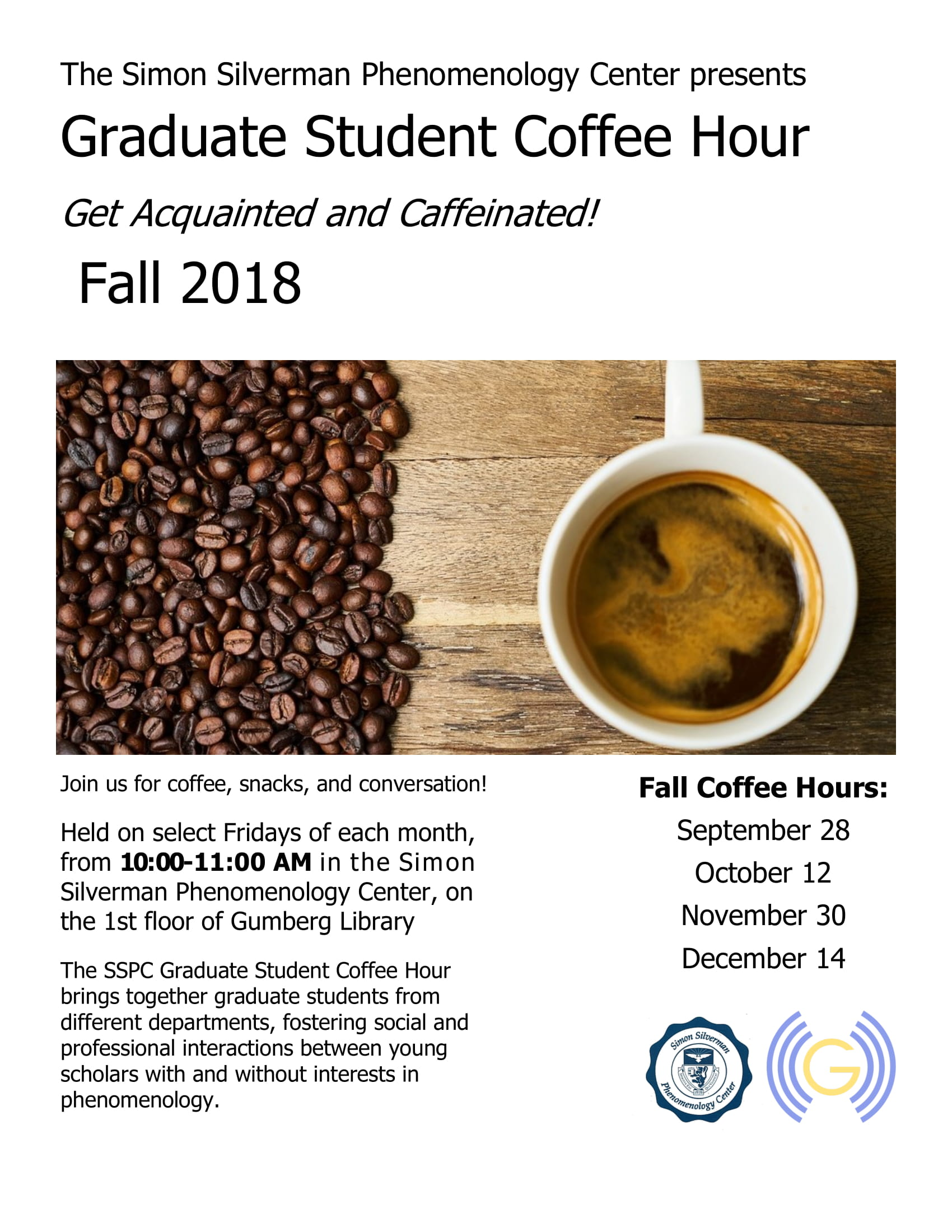 SSPC Graduate Student Coffee Hour