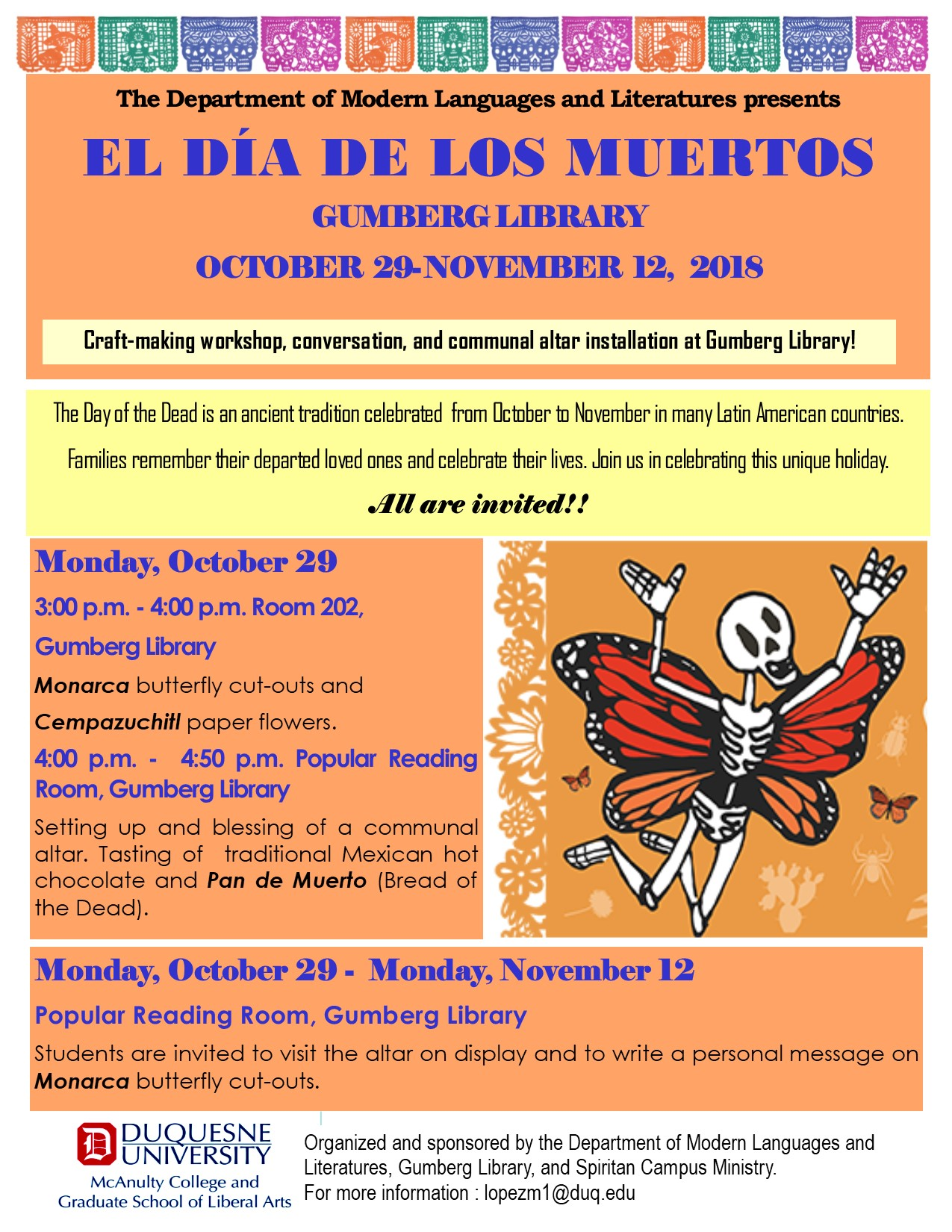Day of the Dead craft making workshop